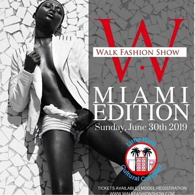 Designer registration now open email designer@walkfashionshow.com  Model registration open at www.WALKFASHIONSHOW.com  Walk Fashion Show Miami Edition  Sunday, June 30th 2019 @ Little Haiti Cultural Center 212 NE 59th Terrace, Miami, FL 33137, USA  Showtime 6:00pm  Photographer | Media | Blogger | Buyer credentials email media@walkfashionshow.com  #walkfashionshow #walkmiami #miamimodel #miamifashion #miamidesigner #miamimua #miamistylist #miamiblogger #floridafashion #floridamodel #floridablogger #floridamua #floridablogger #floridamedia #fashion #nyfw #fashionmodel #fashiondesigner #independentdesigner #southbeachfashion #michiganfashion #atlantafashion #modelcall #artbasel #artbaselmiami #artbasel2019 #fashion #southbeachmodel #miamidesigners #nyfw #independentfashion #indiefashion
