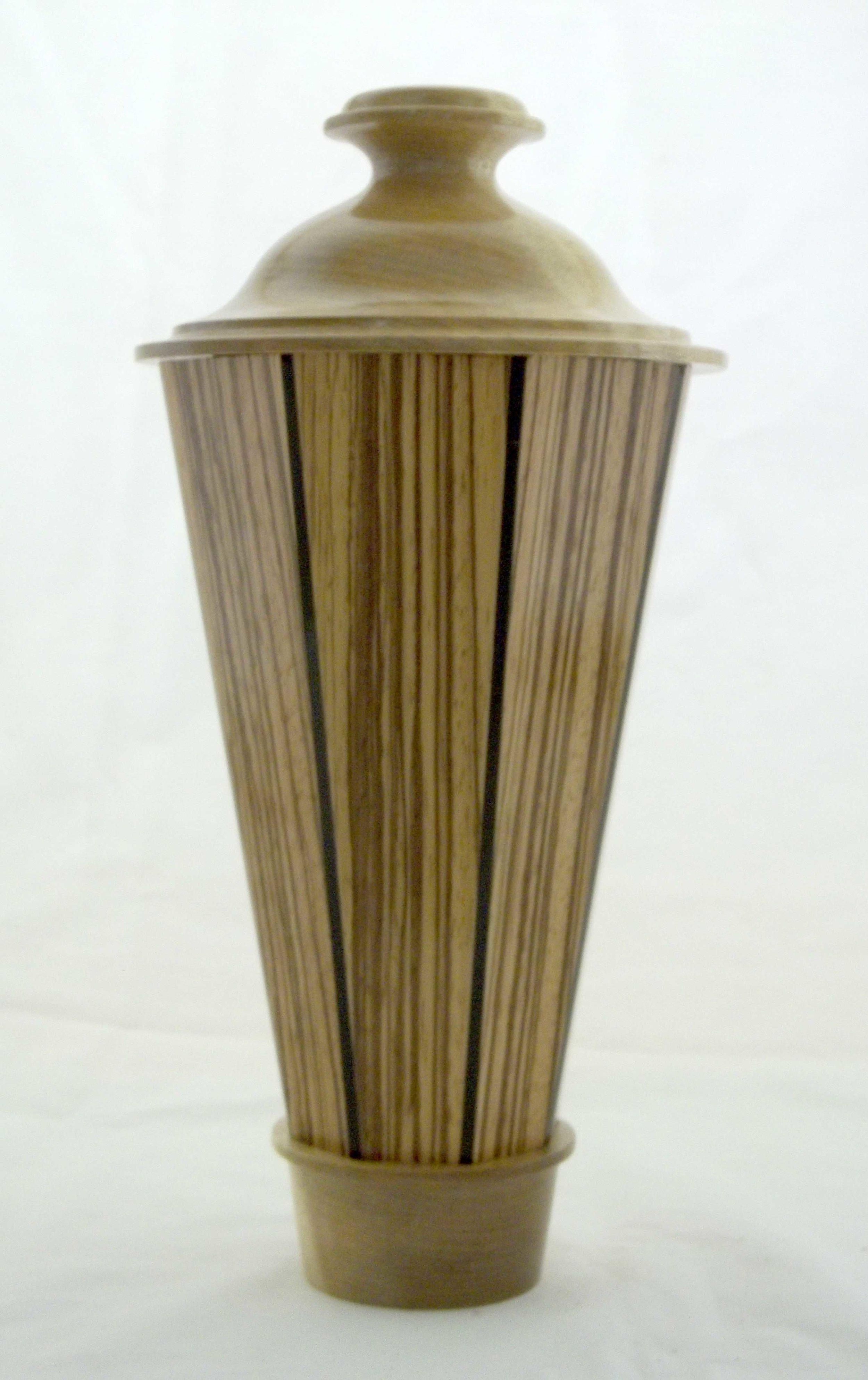 Tall Lidded Vase -