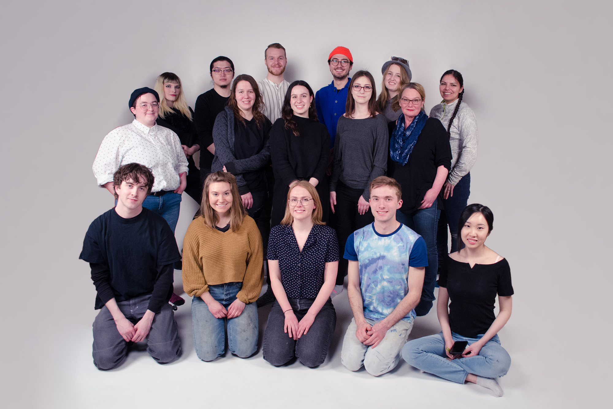 The 2019 BFA Grad Show runs April 23 - May 4. See you at the opening reception on April 25! Photo of 2019 grad class by Danielle McBeth