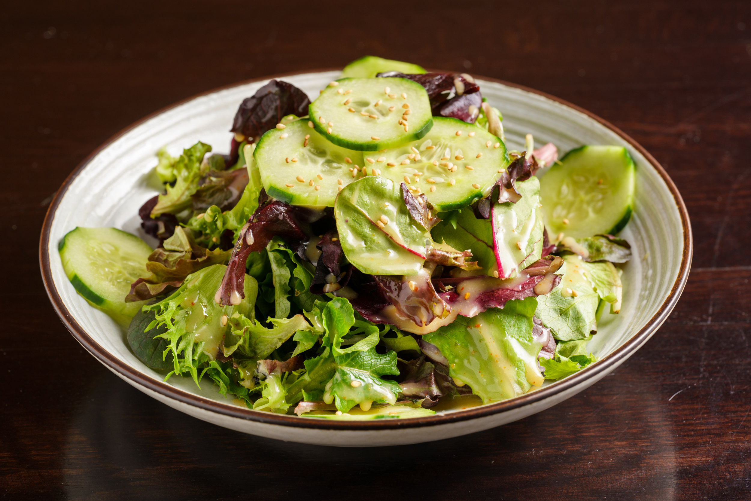 Romaine Heart and Cucumber Salad