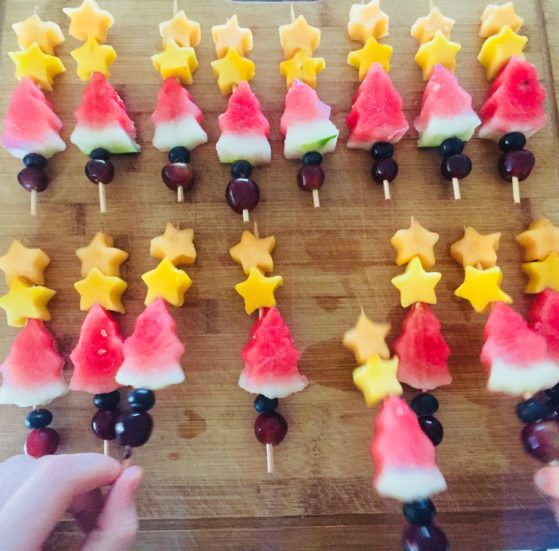 Interview with Amanda Downsborough- These Christmas fruit kebabs didn't last long at all!