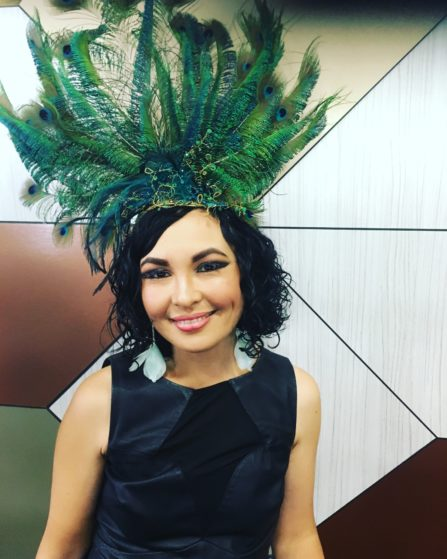 Parth hair and Makeup Awards- Peacock crown by my friend Holly Barker Millinery!