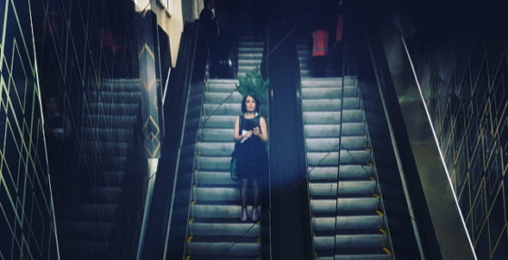 Perth Hair and Makeup Artist Awards- On the escalator at Ascot!