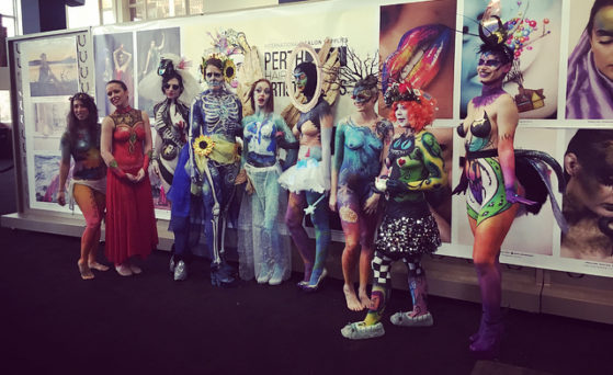 Perth hair and Make up artist awards- Group photo of amazing creatures!