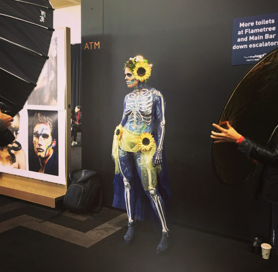 Perth hair and Makeup Artist Awards- Incredible skeleton artwork by artist Amy Victoria!