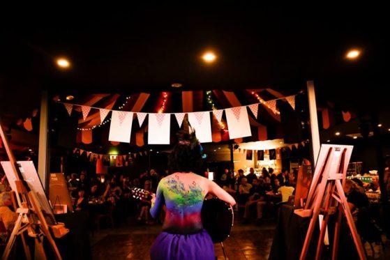 Body art. Performing at Retro Extravaganza! Photo by Zoe Jay at Viva! Life Photography.