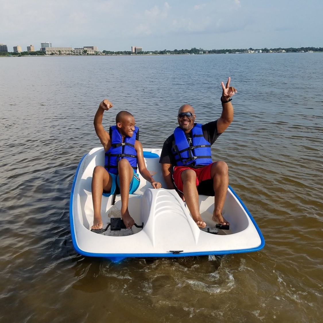 KAYAKS & PADDLE BOATS - RENTAL RATES:2 HOUR - $354 HOUR - $408 HOUR - $50+ $25 delivery fee unless you pick up.We can hand them over to you at one of three locations: Prien Lake Park Boat Launch, 210 Boat Launch or the I-10 Beach. Need them delivered to another location? Give us a call!