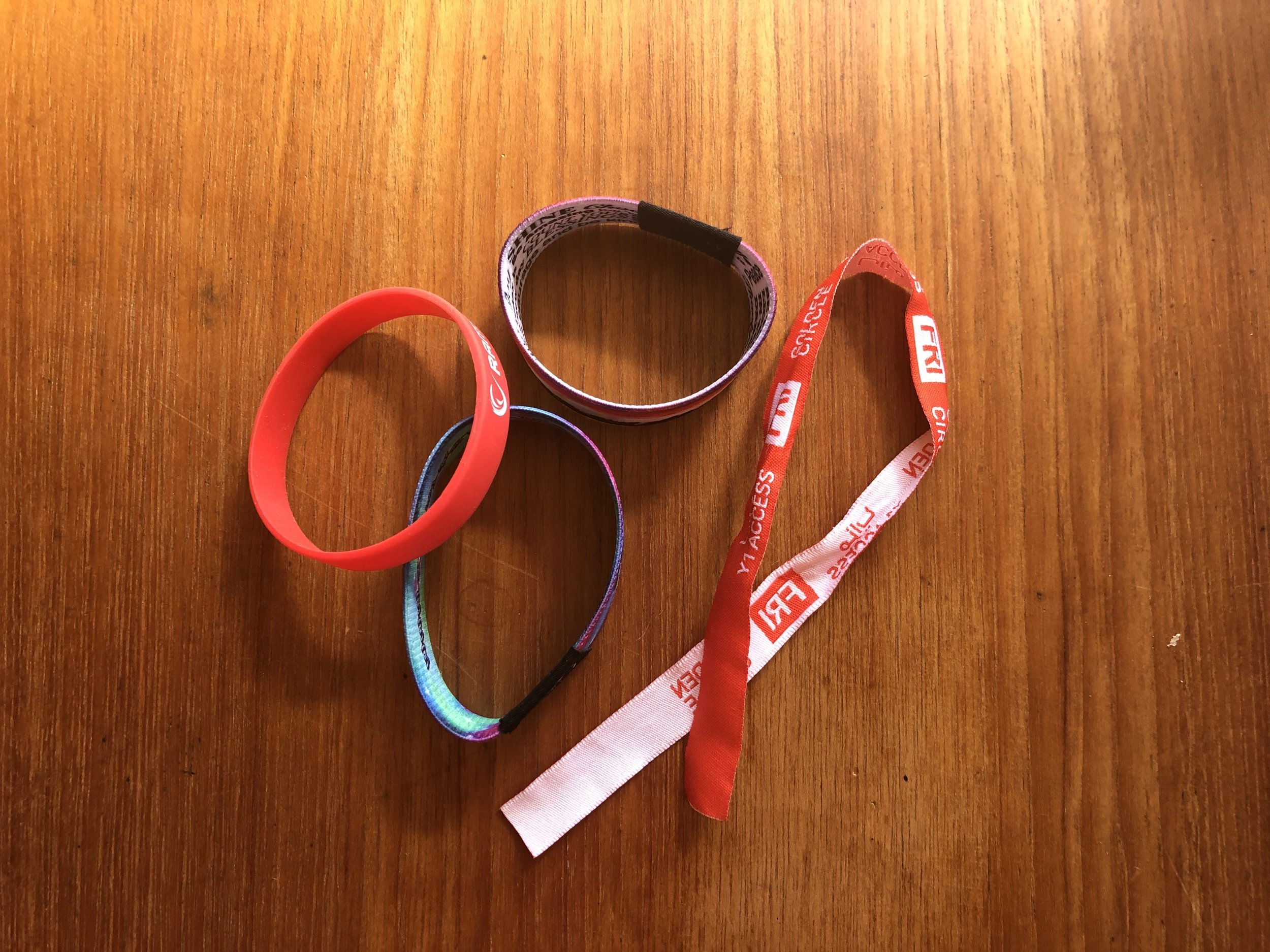 I requested wristband samples from various Alibaba suppliers and honed in on the style that would work best in order to achieve desired goals.