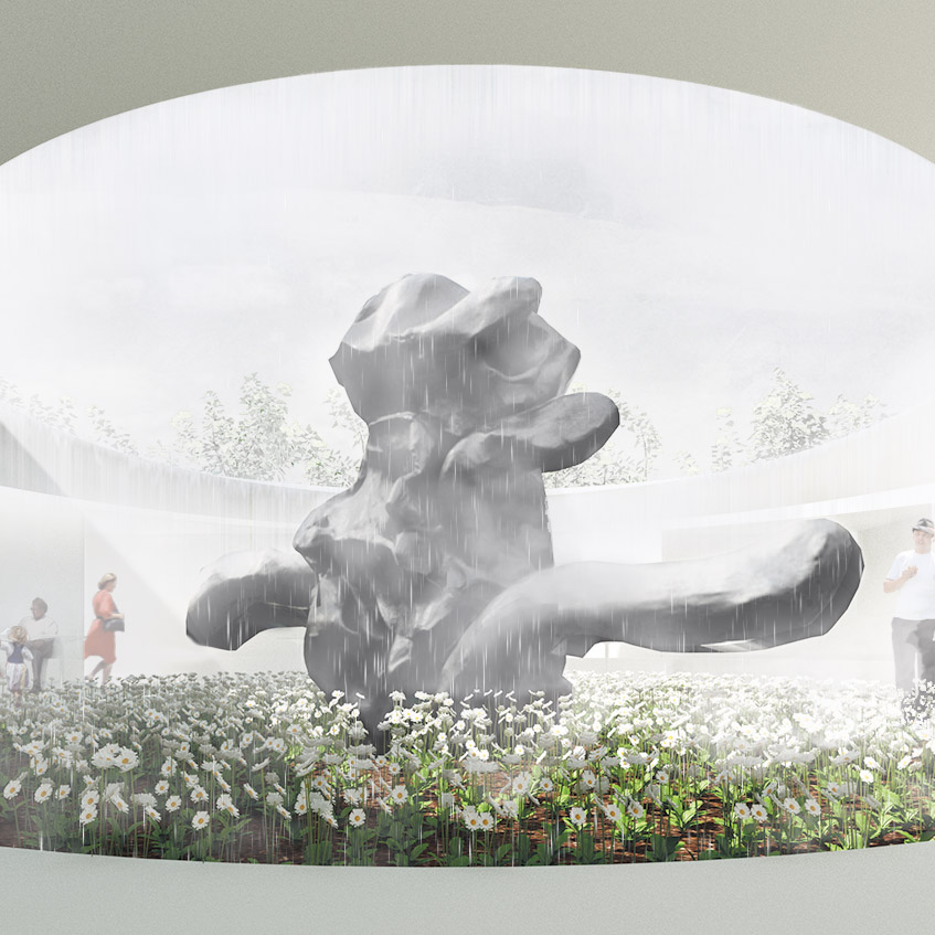 Garden Gallery – Art Pavilion - 'Garden Gallery' serves as a canvas for art, inspired by the courtyards of Roy Ground's 1967 National Gallery of Victoria, an austere and minimal pavilion, opens to the sky and heightens the experience of Artist Willem de Kooning's 1969 standing figure.