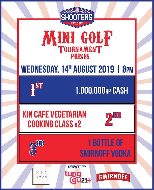 Can You Handle Our Balls? Come Up And Show Us Your Moves! 🥇1.000.000 Cash 🥈Kin Vegetarian Cooking Class 🥉1 Bottle of Smirnoff Vodka . . . #minigames #minigolf #bali #eventbali #shootersbali #seminyak #thebaliguideline
