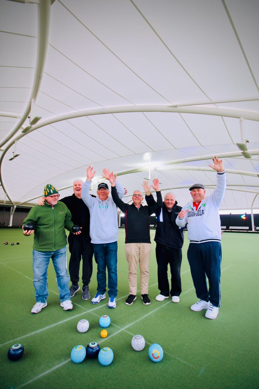 Dandenong players can now bowl in winter, protected from wind and rain.