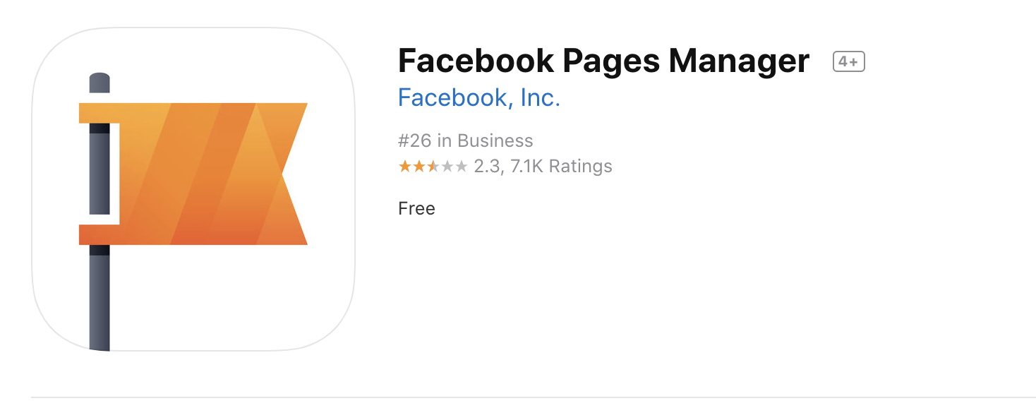 Facebook Pages Manager iTunes