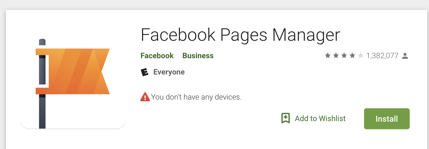 Facebook Pages Manager Google Play