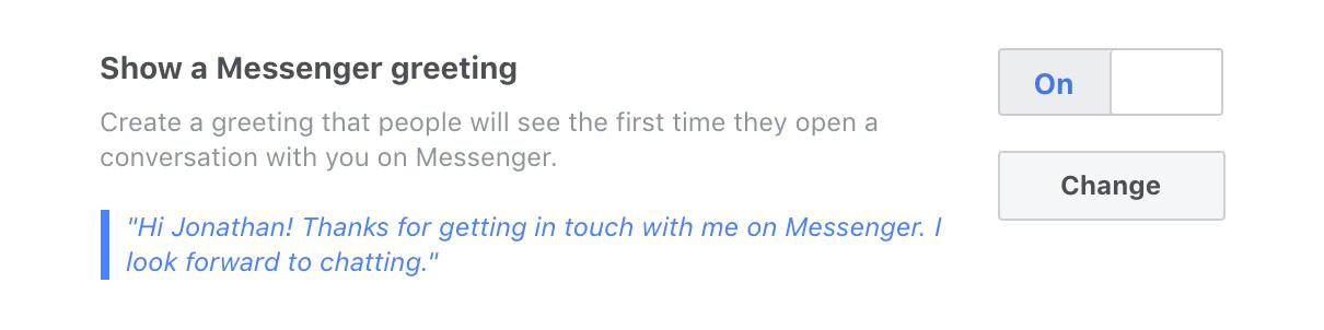 Messenger Greeting