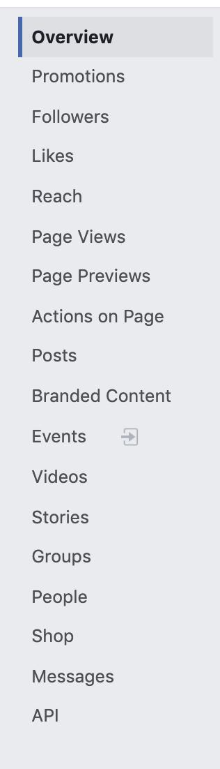 Facebook Insights Tabs
