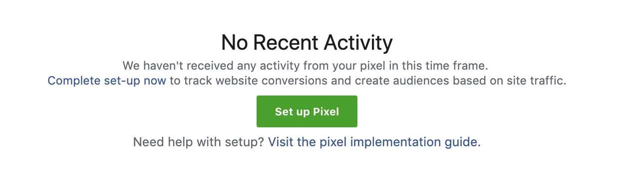 Set up Pixel