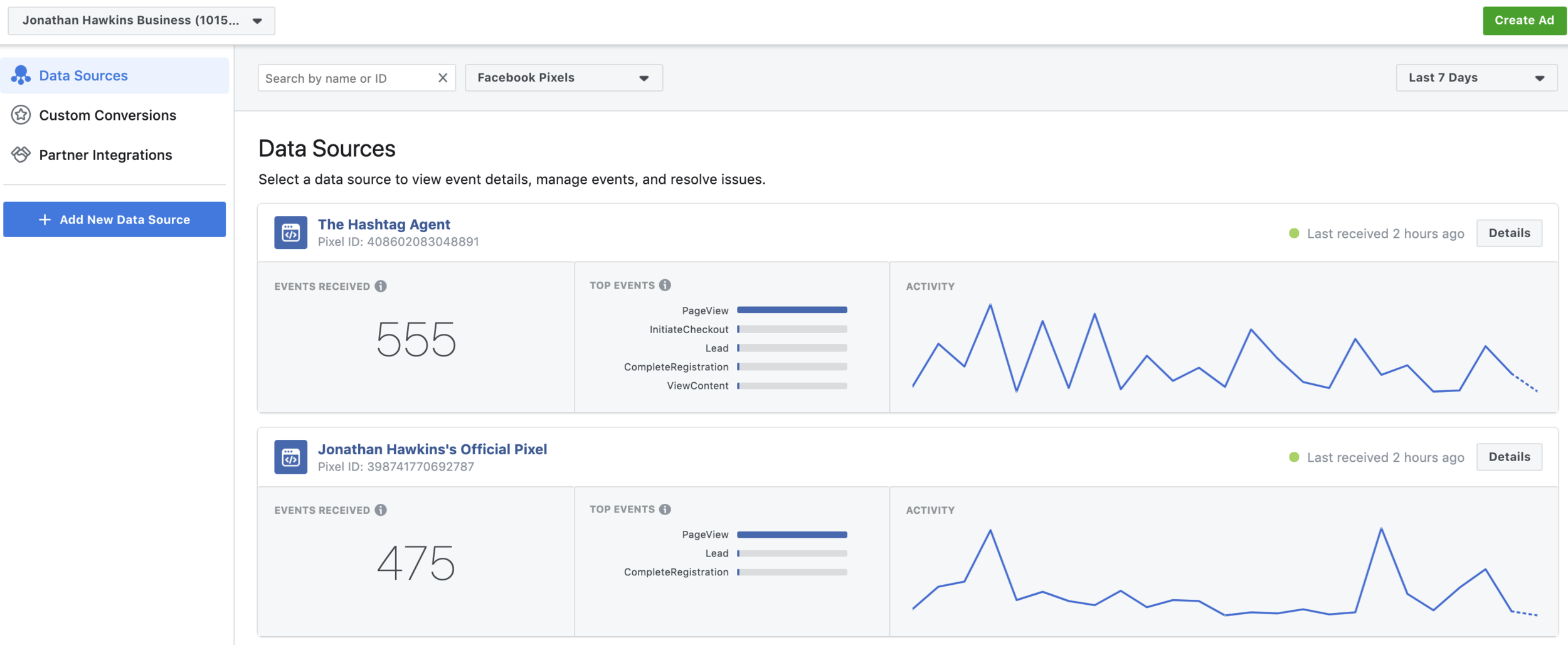 Facebook Pixel Data Sources