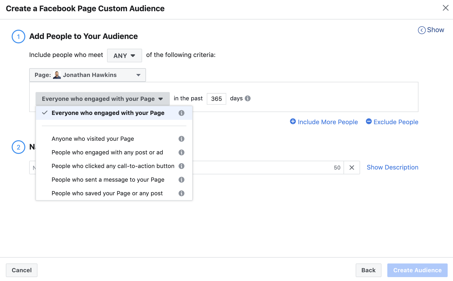 Facebook Page Audiences
