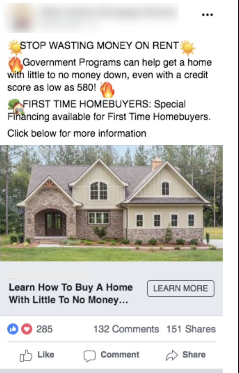 First Time Homebuyer Ad