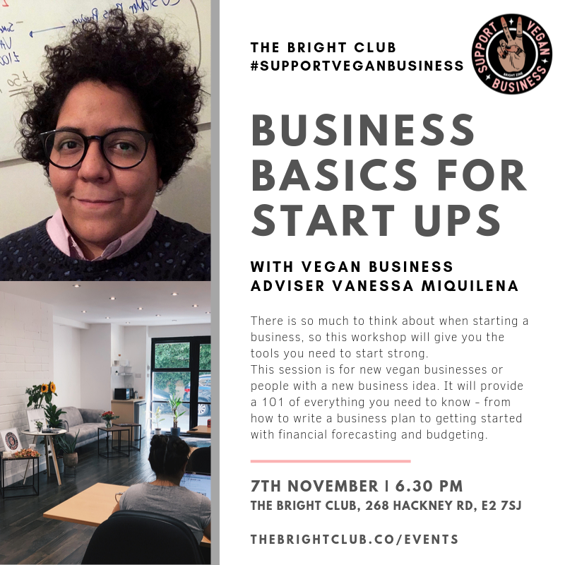 Support Vegan Business Basics for Start Ups | BRIGHT Zine | The BRIGHT Club