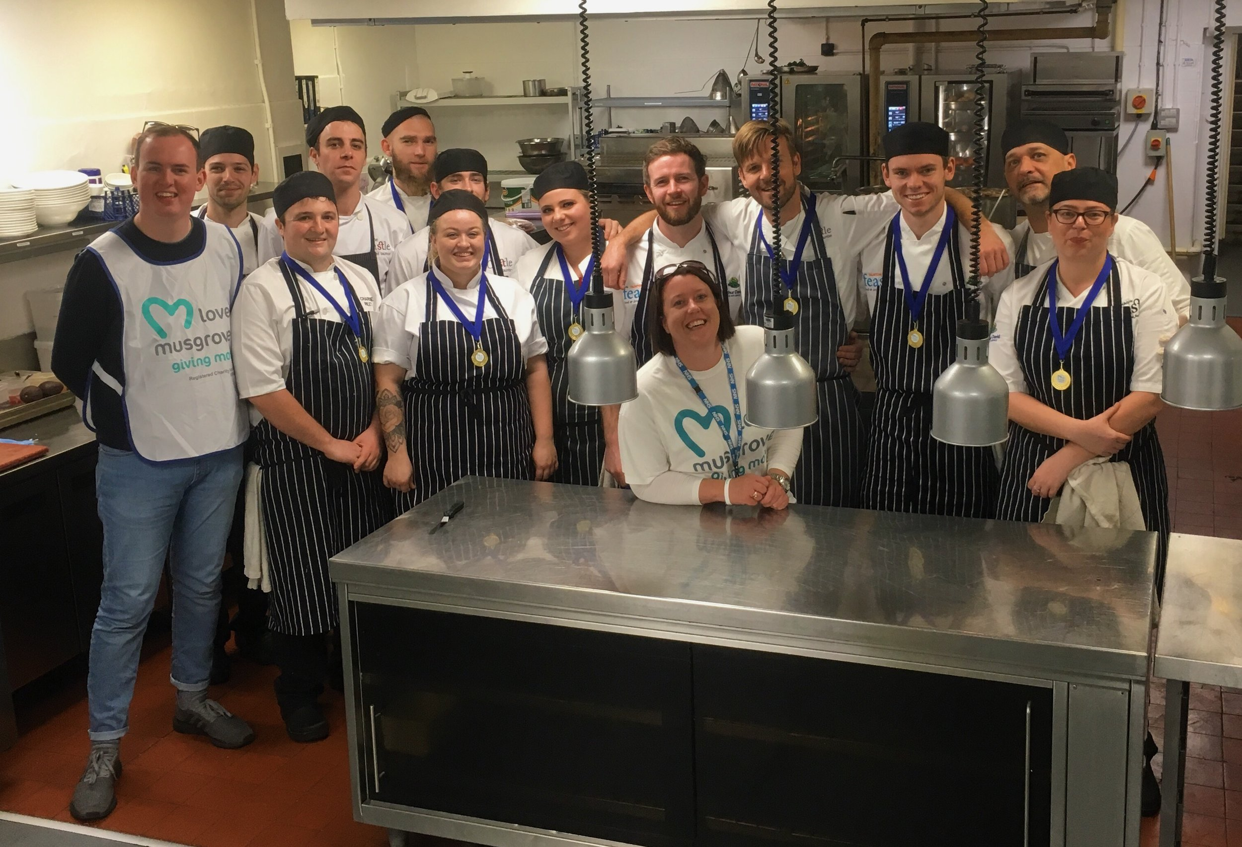 Staff at the Castle Hotel kitchen who helped to support the Campaign at Feast 2018
