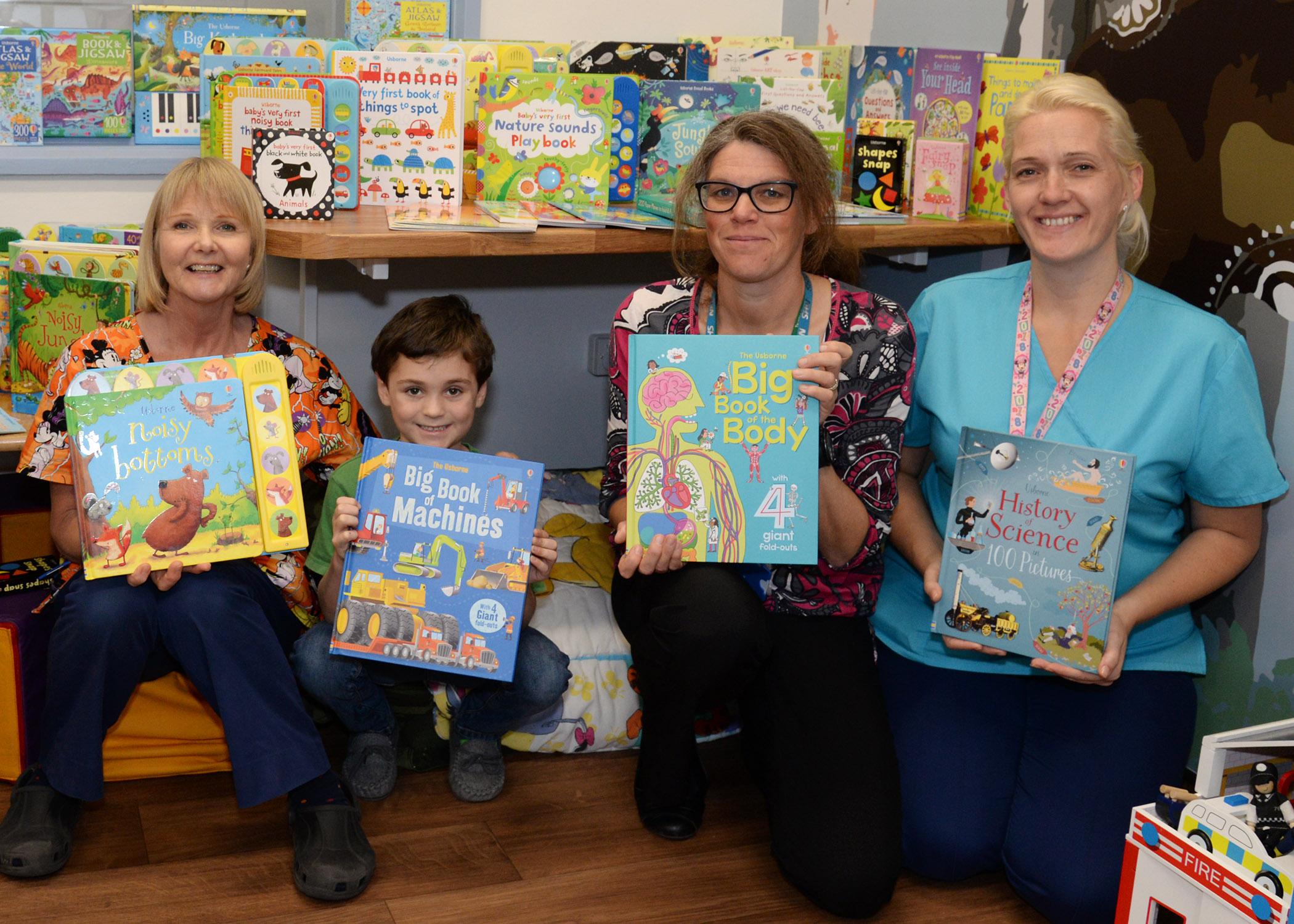 Becky Coles, an Usborne Books Seller raised money to buy books for the Children's Department.