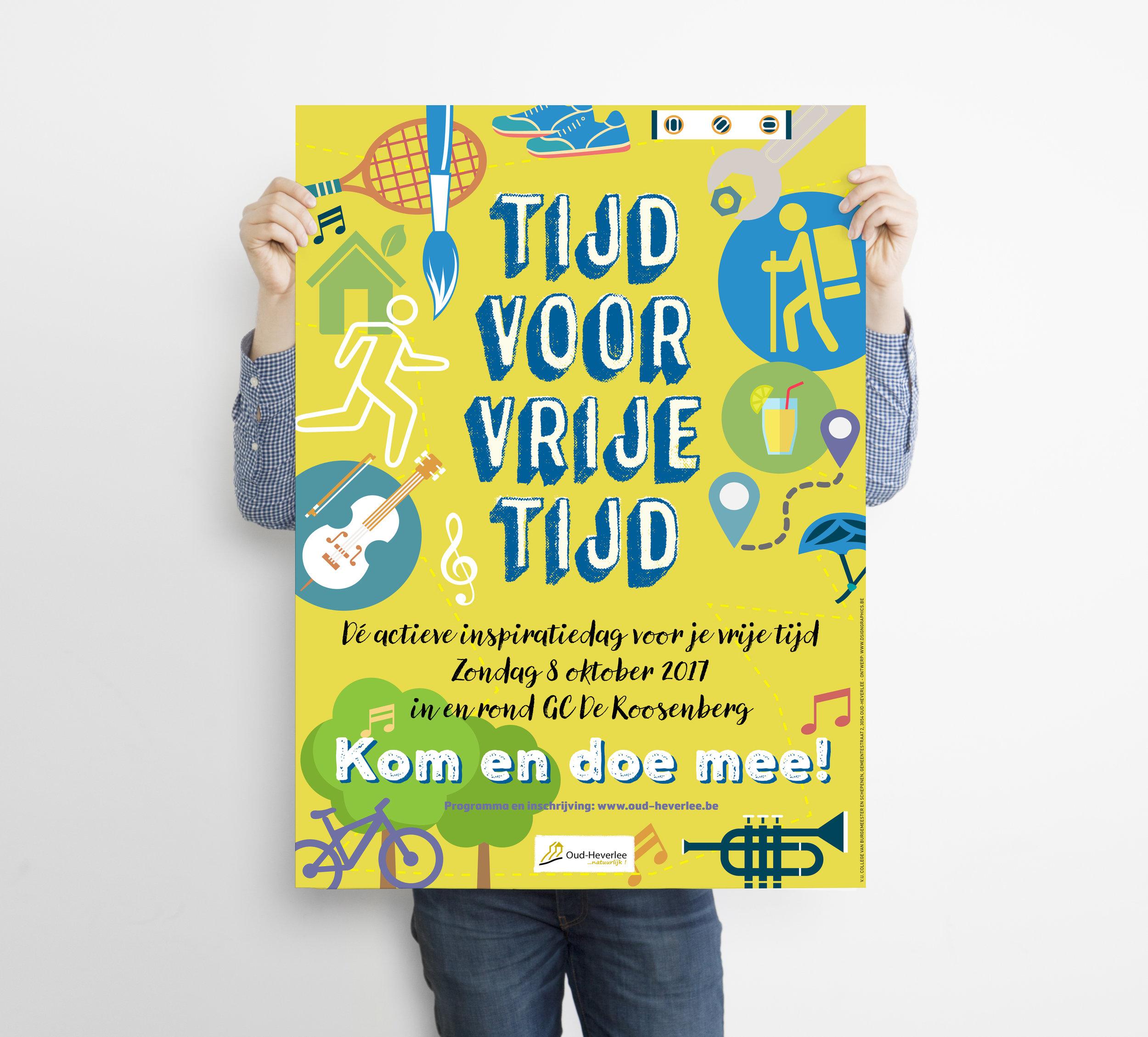 Affiche 'Tijd voor vrije tijd'