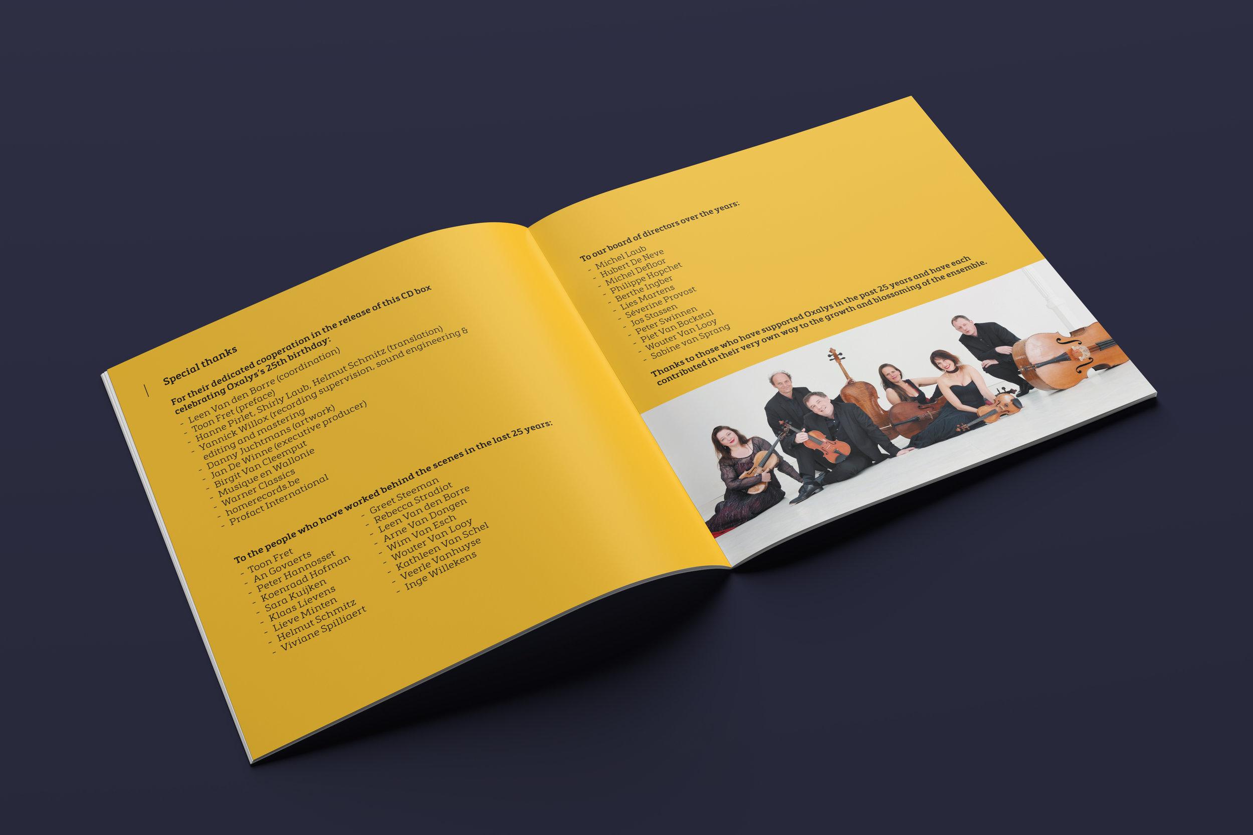 CD-boekje 'Oxalys 25 jaar'