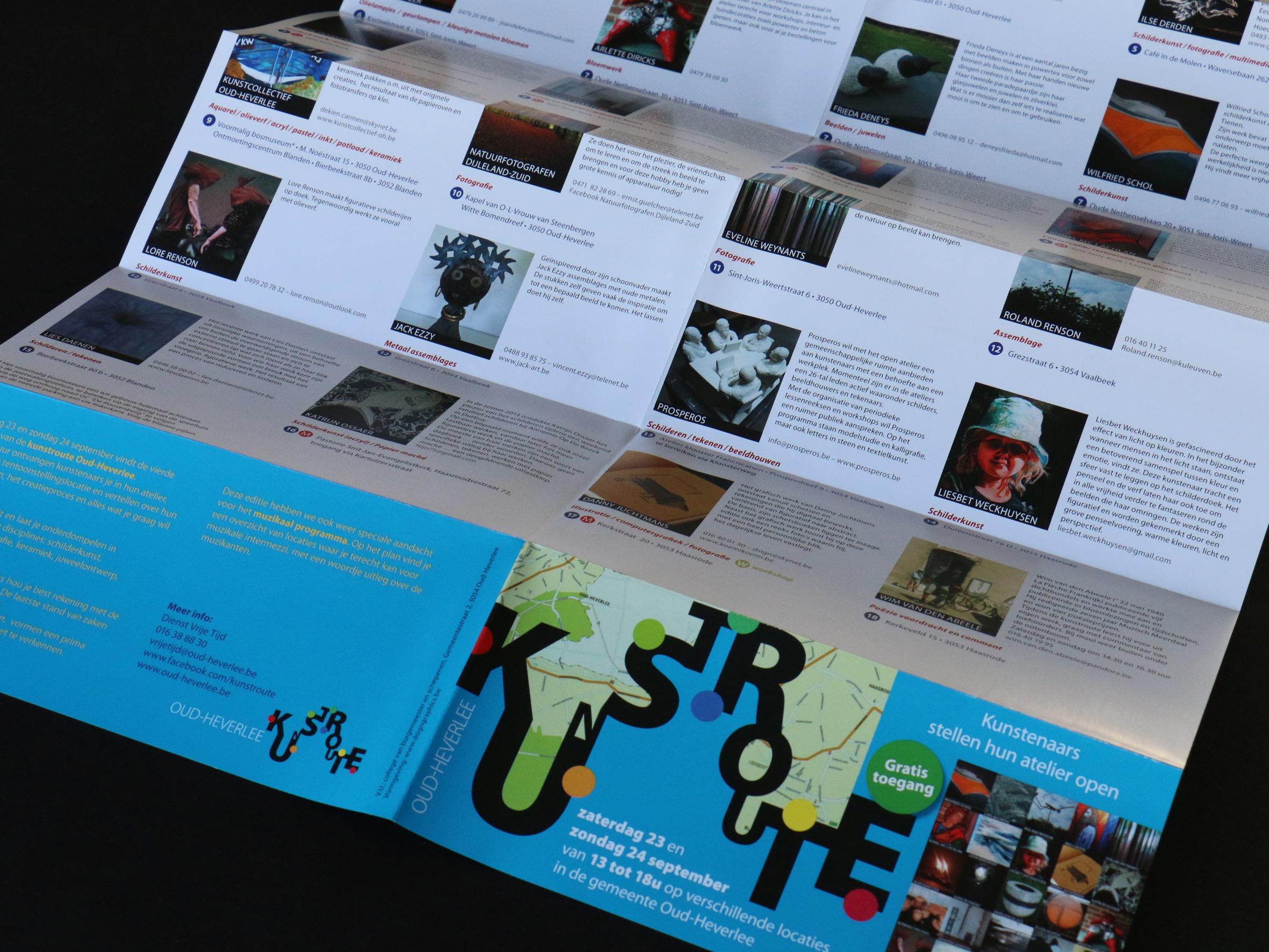 Folder Oud-Heverlee Kunstroute