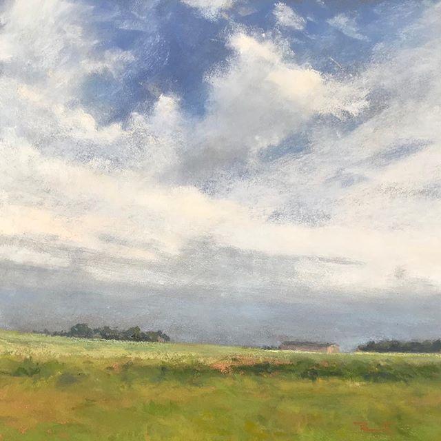"""""""Ciel Normand"""", pastel sec, 32x32cm #pastel #paintings #florencepenouty #landscapepainting"""