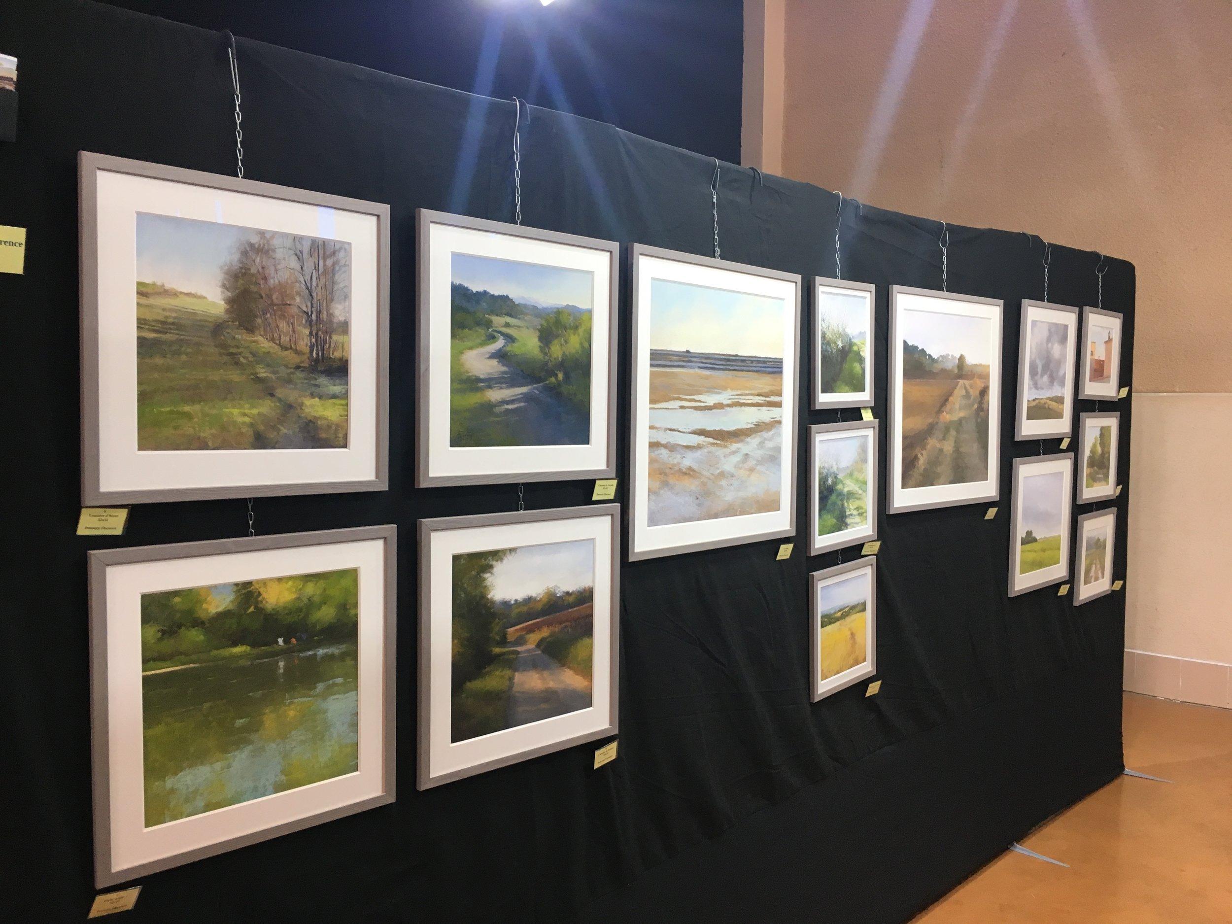 les 14 pastels exposés de F.Penouty