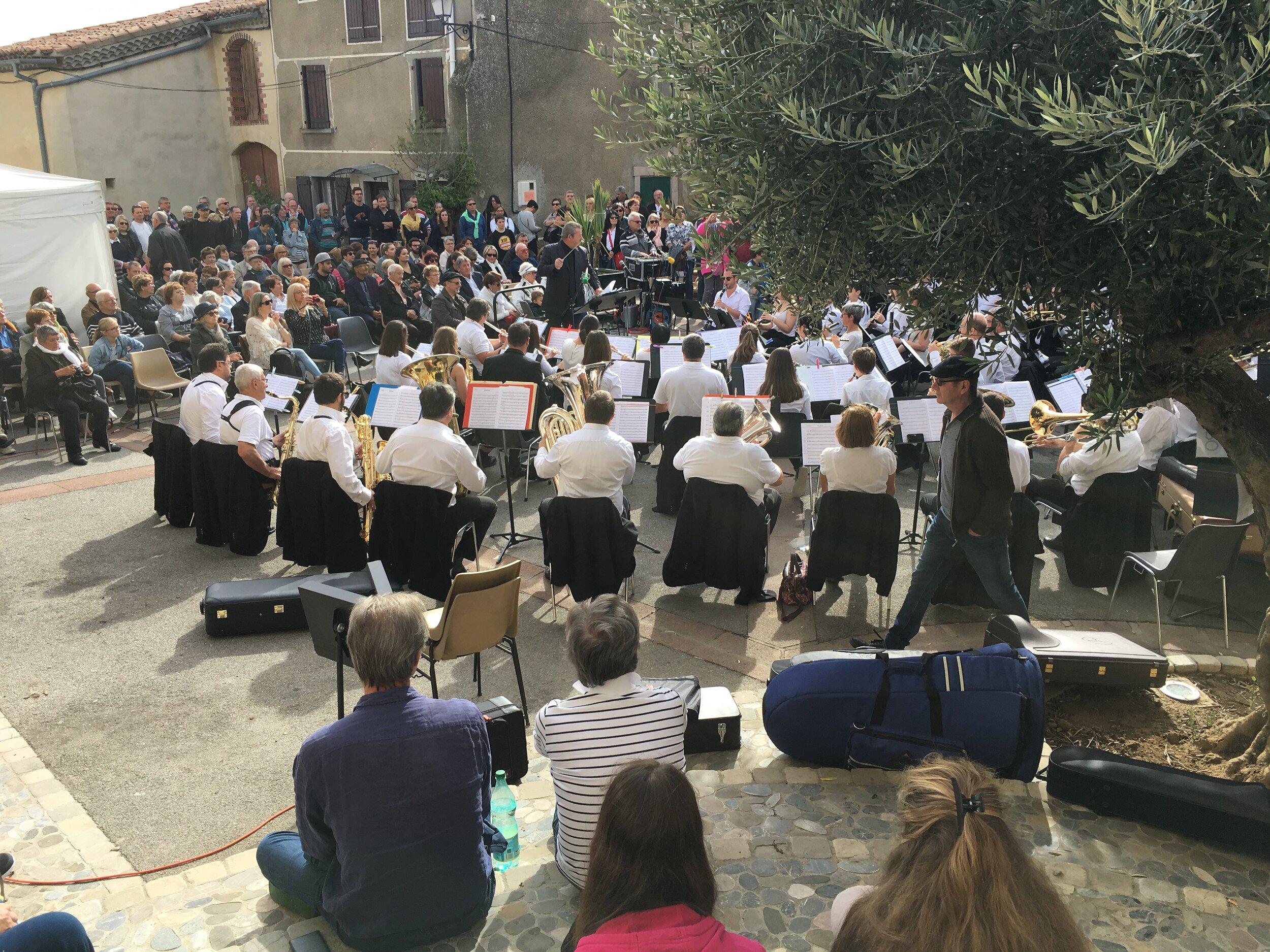La Lyre municipale de Limoux nous offre un beau concerte