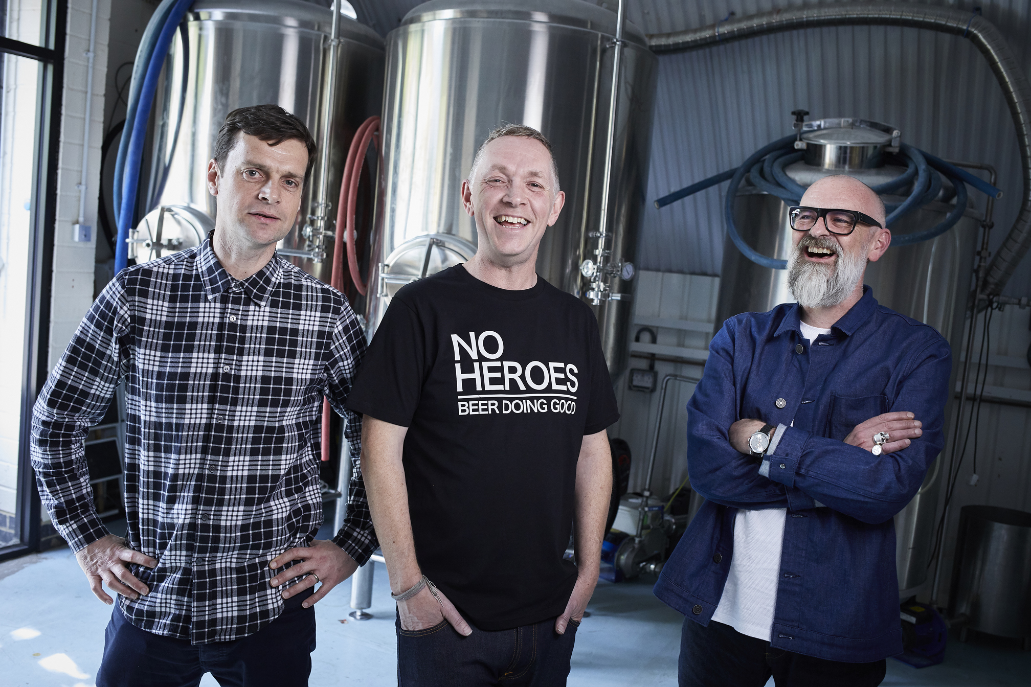 No Heroes Not for Profit Craft Beer - Three Founders
