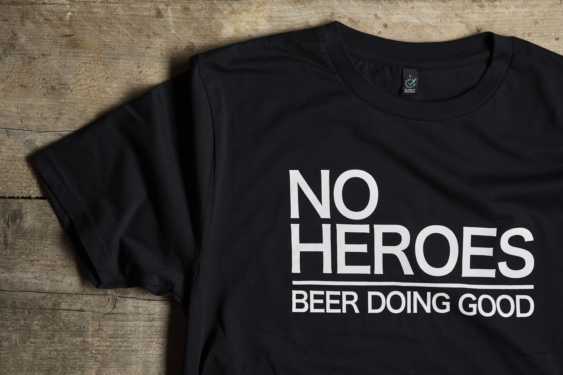 No Heroes Not for Profit Craft Beer - Black T-Shirt