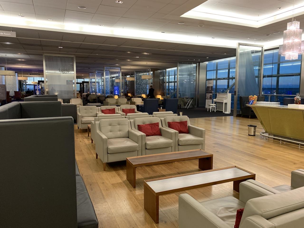 Heathrow BA First lounge