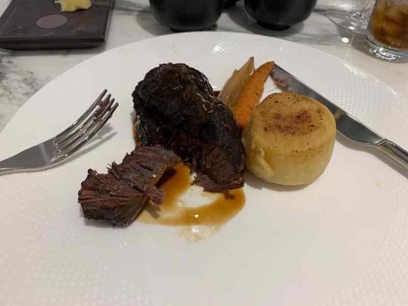 H Club Brasserie Beef Cheek steak
