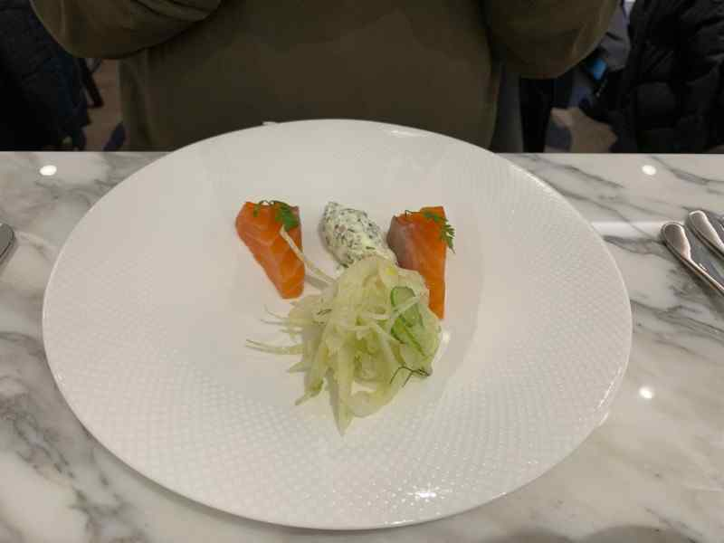 H Club Brasserie Salmon starter