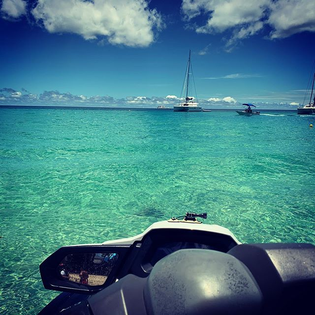 Crystal clear waters, Caribbean style #Barbados #jetski #familyvacation #familyvaca #carribean