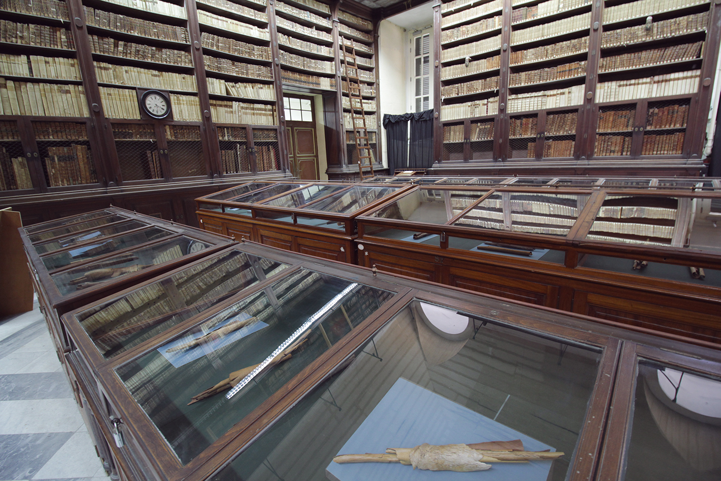 De-Scroll  installation at the National Library in Valleta, Malta (2015).