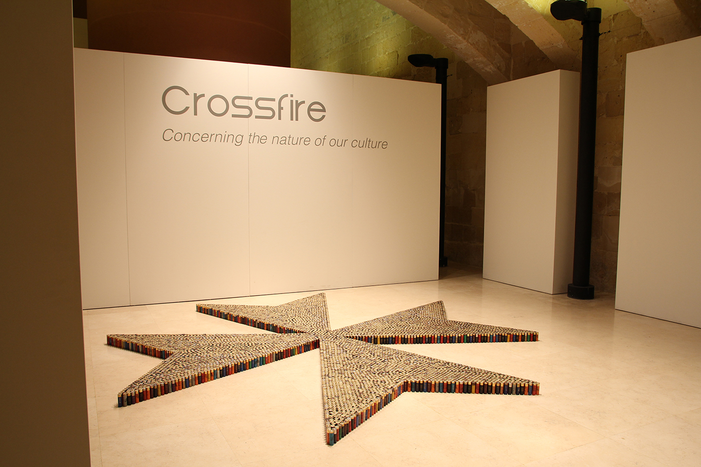 Crossfire - Concerning the nature of our culture  at Spazju Kreattiv Valletta, Malta (2015).