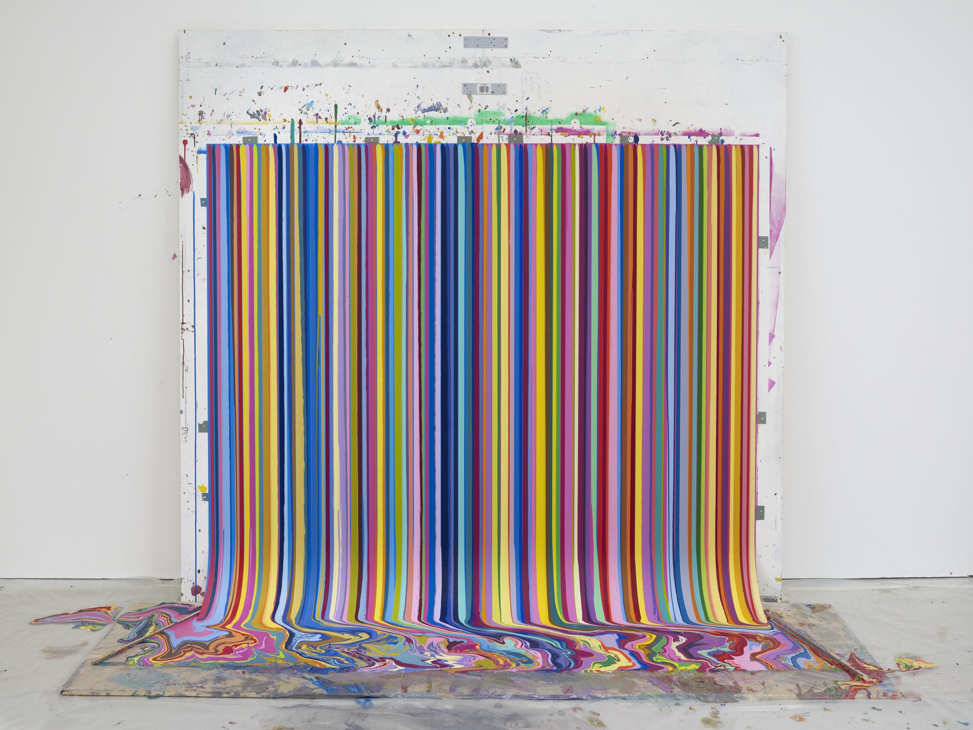 Exhibition installation , Ian Davenport: Colourscapes , Waddington Custot, London, 2018 © Ian Davenport, 2019. Courtesy the artist and Waddington Custot.