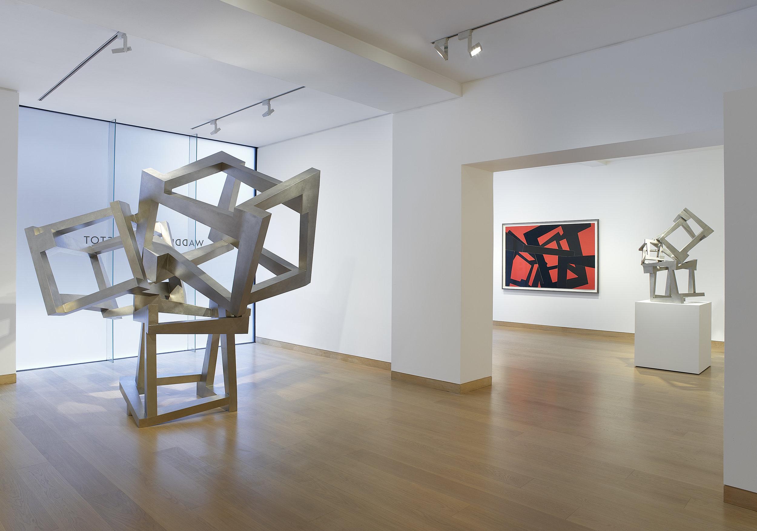 Exhibition installation , JeddNovatt: Conversations with Gravity , Waddington Custot, London, 2018 © JeddNovatt, 2019. Courtesy Waddington Custot.