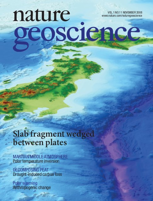 Nature Geoscience cover Toda et al 2008 (1).jpg