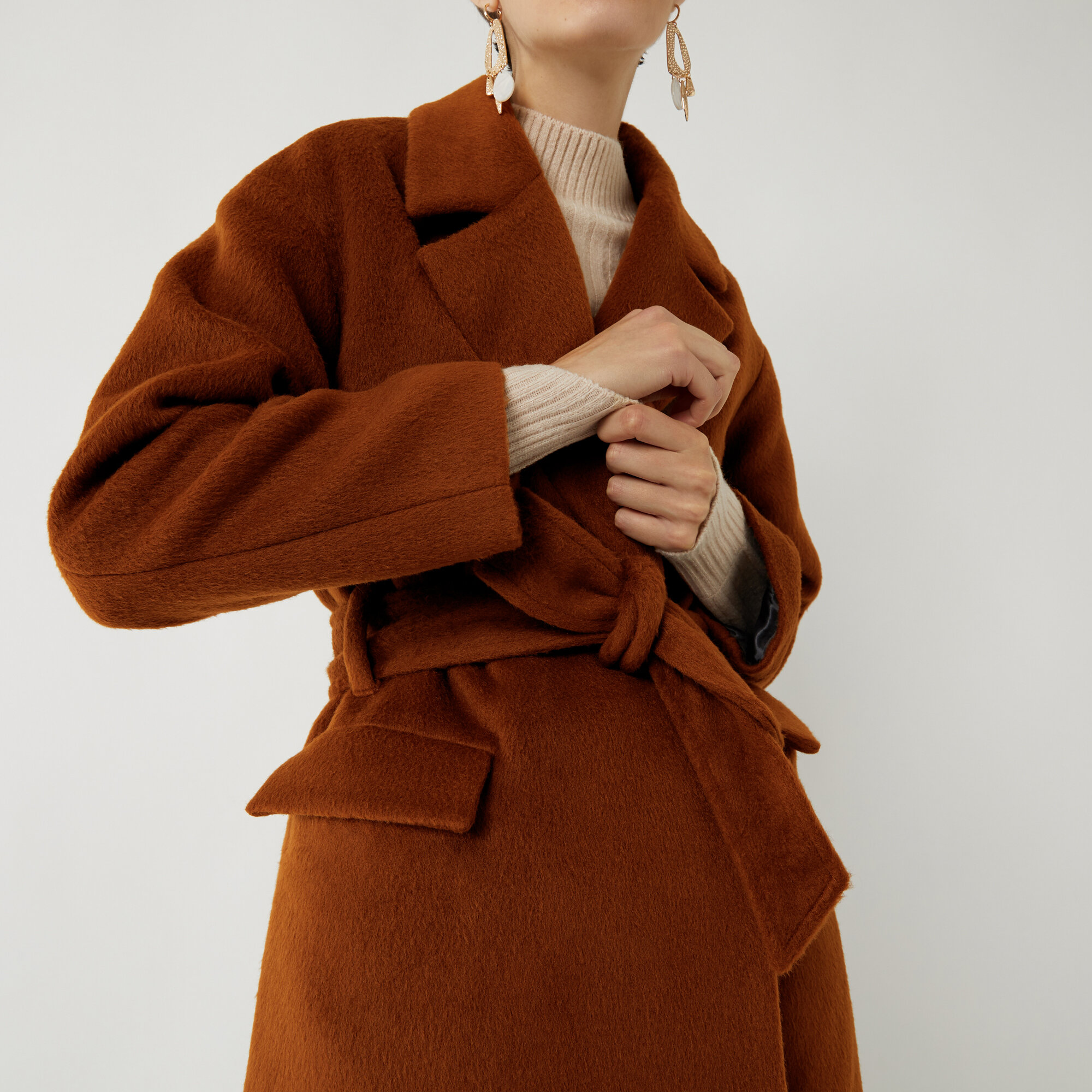 WAREHOUSE TEXTURED BELTED WRAP COAT 89.jpg