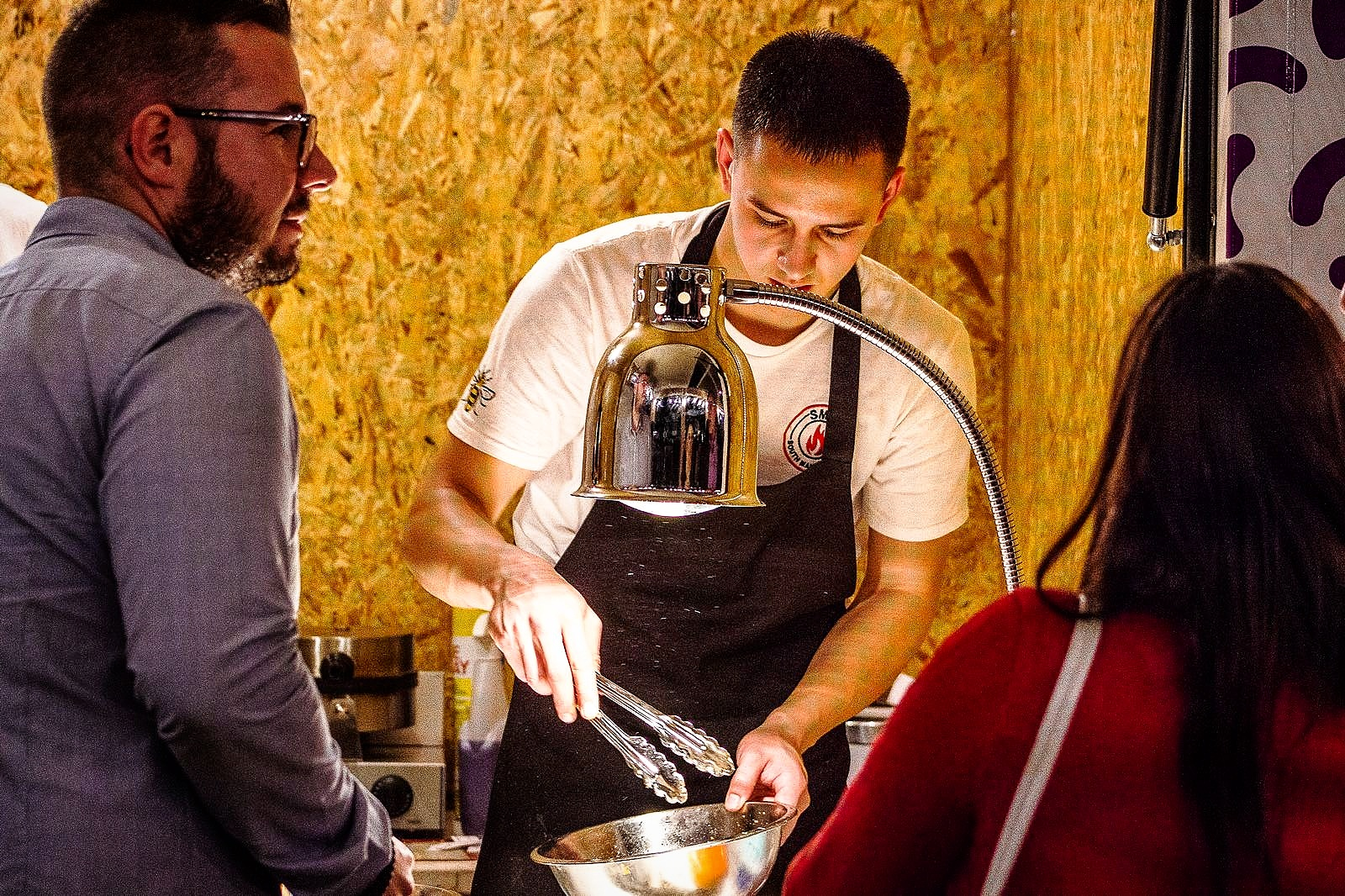 About Aaron - After spending several years under the guidance of some of the most prestigious chef's in Europe Aaron discovered his passion for Street Food. In a bid to stand out he developed his unique herb and rosemary infused waffles to accompany the SMF flavourful and succulent fried chicken. From cooking in his backyard for his friends and neighbours word of SMF grew and it soon became one of the most esteemed street food vendors in Manchester.Aaron aims to inspire young chefs to pursue their dreams, to fill the street food scene with exotic flavours and up and coming entrepreneurs. All in order to affirm Manchester as having one of the most authentic and appreciable Street Food scenes on the map.