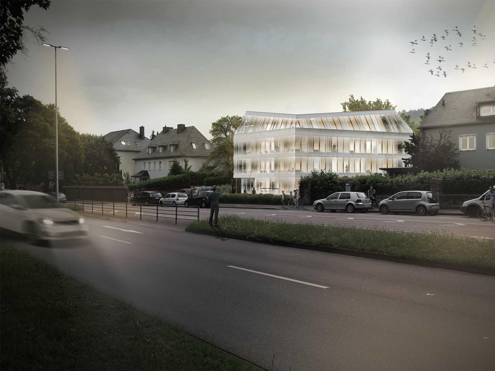 Neubau des Verwaltungsgebäudes Ostallee 71 in Trier
