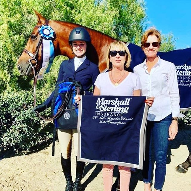 "Wrapping up our season with @blenheimequisports was pretty special. Major congratulations to Caroline Ingalls for having a phenomenal season and receiving Marshall & Sterling Insurance 3'6"" Grand Champion! Also special congratulations to Constance Kilmartin for winning the NAL Adult west coast finals! All our riders have done a super job, proud of all of you! 💙⭐️"