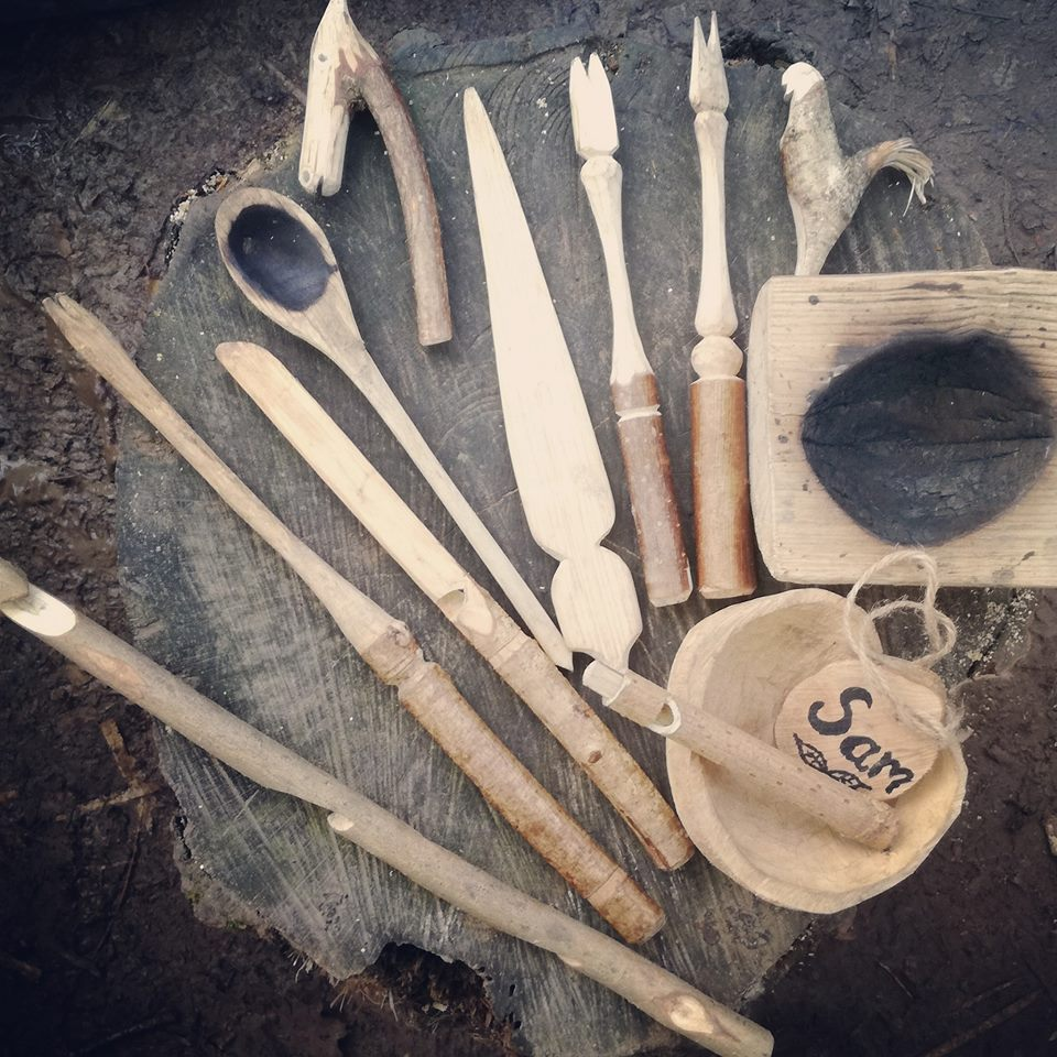 Forest school utensils