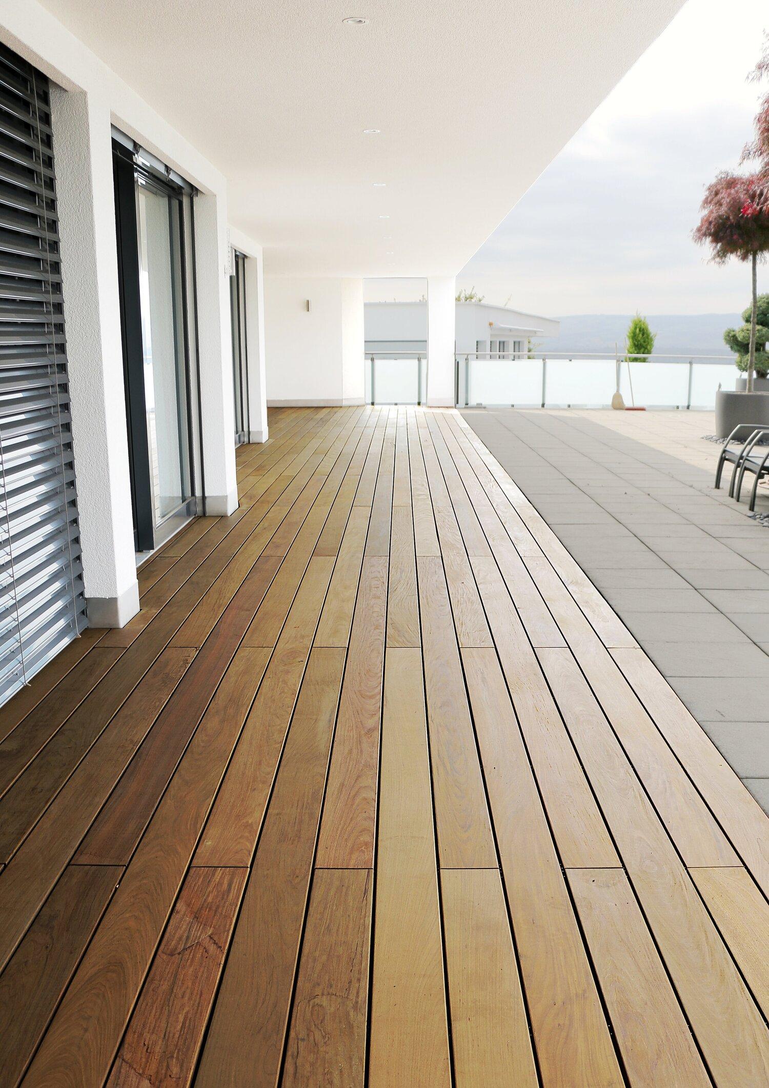 Terrasse aus Ipé Hartholz / Widen, Aargau — Ryser Böden