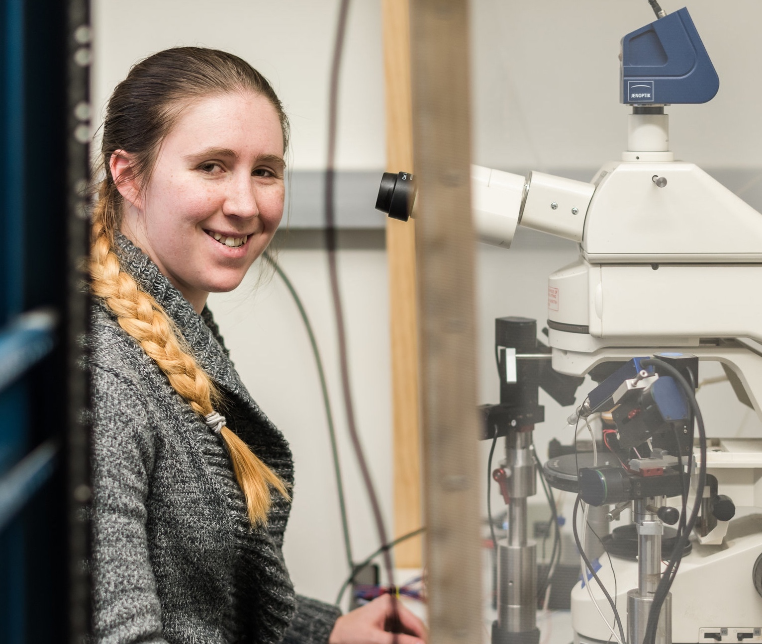 - Alexandra LucasAlex is a Professional Research Assistant who is an expert at immunohistochemistry, microscopy, neural tracing, and electrophysiology. She works both alterations in the sound localization pathway in aging and in Fragile X.